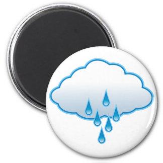Día lluvioso imán redondo 5 cm