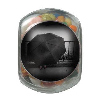 Día lluvioso jarras de cristal