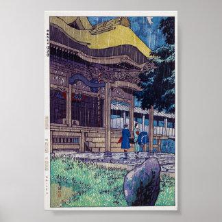 Día lluvioso oriental fresco de Shiro Kasamatsu Póster