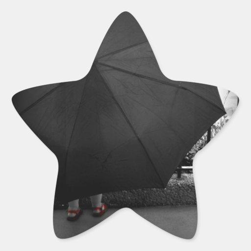 Día lluvioso calcomanías forma de estrellaes personalizadas