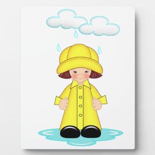 Día lluvioso placa