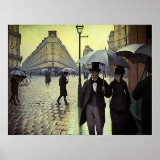 Día lluvioso por Caillebotte, arte de la calle de Póster