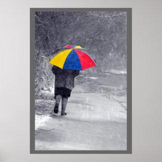 Día lluvioso póster