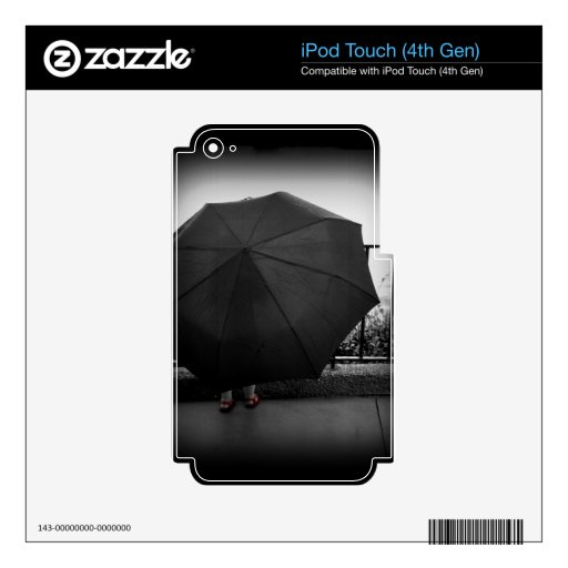 Día lluvioso skins para iPod touch 4G