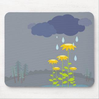 Día lluvioso tapetes de raton