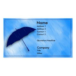 Día lluvioso tarjeta de visita