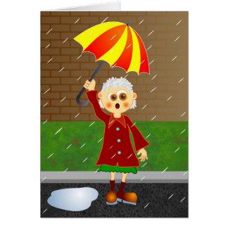 Día lluvioso tarjeta de felicitación