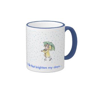 día lluvioso tazas de café