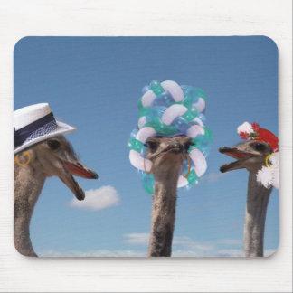 Día loco del gorra en las razas alfombrillas de raton