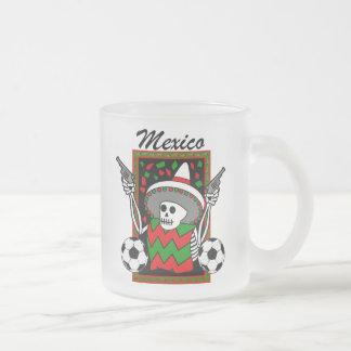 Dia los meurtos futbol Mexico 2010 glass mug