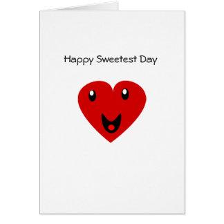 Día más dulce feliz tarjeta de felicitación