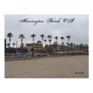 Día melancólico en Huntington Beach Tarjetas Postales