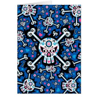 """Día mexicano del cráneo muerto de """"Dia de Muertos"""" Tarjeta De Felicitación"""