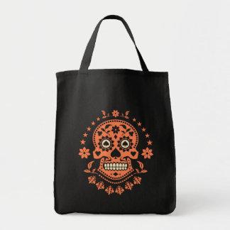 Día mexicano del cráneo muerto del azúcar bolsa tela para la compra