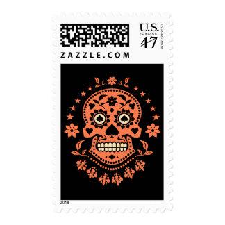 Día mexicano del cráneo muerto del azúcar sello