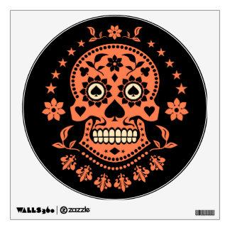 Día mexicano del cráneo muerto del azúcar vinilo