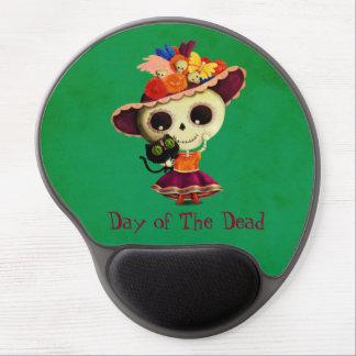 Día mexicano lindo del chica muerto alfombrilla con gel