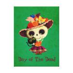 Día mexicano lindo del chica muerto lona envuelta para galerias