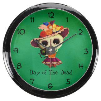 Día mexicano lindo del chica muerto reloj aquavista