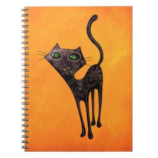 Día mexicano negro del gato muerto libreta