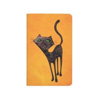 Día mexicano negro del gato muerto cuadernos