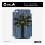 Día moldeado de la palma skins para iPhone 3