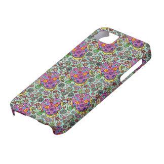 Día muerto - iPhone púrpura del cráneo del azúcar  iPhone 5 Coberturas