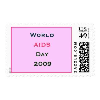 Día Mundial del Sida 2009 Sello