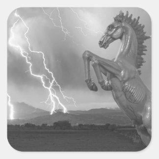 DIA Mustang Bronco Lightning Storm BW Stickers