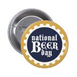 Día nacional de la cerveza pin