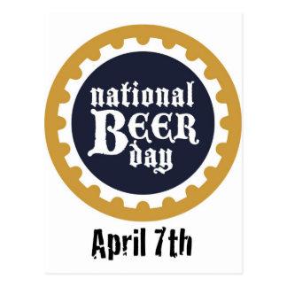 Día nacional de la cerveza tarjeta postal