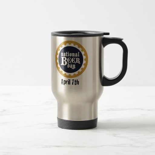 Día nacional de la cerveza taza de viaje