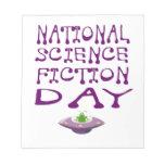 Día nacional de la ciencia ficción blocs de papel