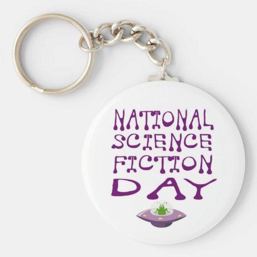 Día nacional de la ciencia ficción llavero personalizado