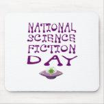 Día nacional de la ciencia ficción alfombrilla de ratón