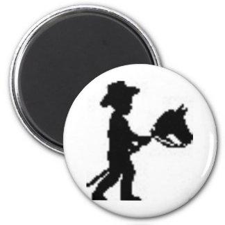 Día nacional de la juventud del vaquero imán redondo 5 cm