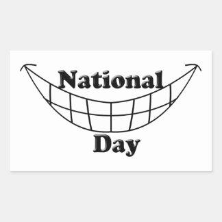 Día nacional de la sonrisa rectangular altavoz