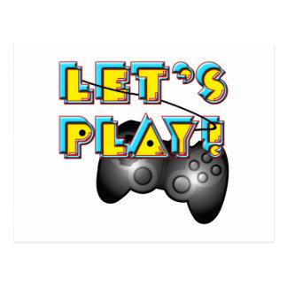 ¡Día nacional de los videojuegos - juguemos! Tarjeta Postal