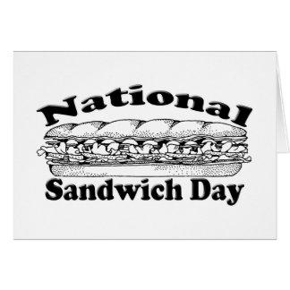 Día nacional del bocadillo tarjeta de felicitación