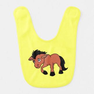 Día nacional del caballo joven del potro de los babero de bebé