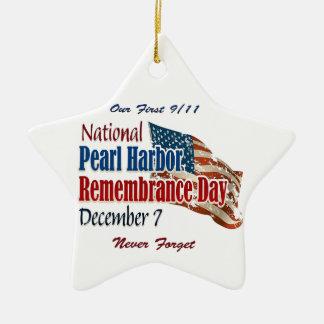 Día nacional del Pearl Harbor Adorno Navideño De Cerámica En Forma De Estrella
