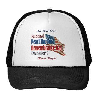 Día nacional del Pearl Harbor Gorras De Camionero