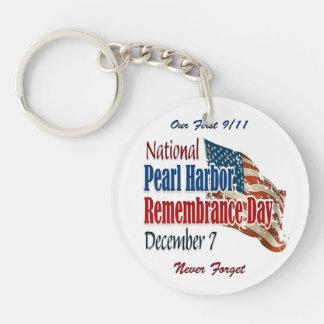 Día nacional del Pearl Harbor Llavero Redondo Acrílico A Doble Cara