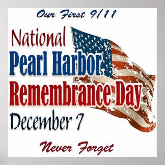 Día nacional del Pearl Harbor Póster