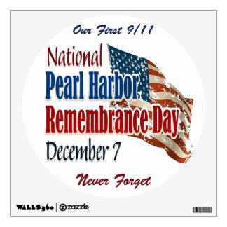 Día nacional del Pearl Harbor Vinilo Adhesivo