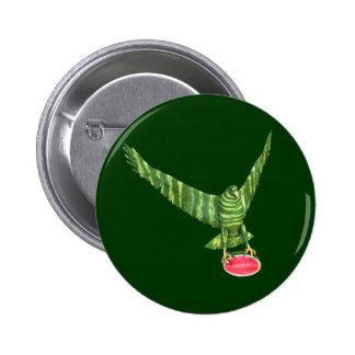 Día nacional Eagle de la sandía Pin Redondo De 2 Pulgadas