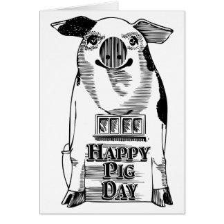 Día nacional feliz del cerdo tarjeta pequeña
