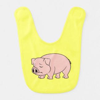 Día nacional gritador del cerdo del cochinillo baberos para bebé