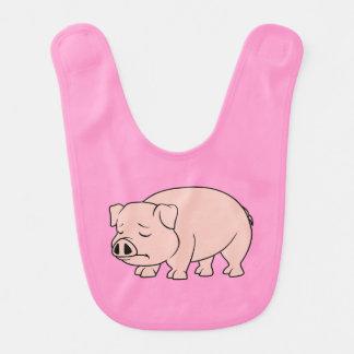 Día nacional gritador del cerdo del cochinillo baberos de bebé
