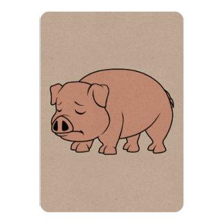 Día nacional gritador del cerdo del cochinillo invitación 12,7 x 17,8 cm